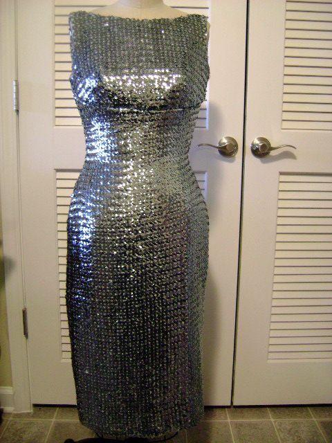 Silver wiggle dress
