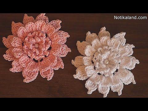 CROCHET flower How to crochet flower Tutorial - YouTube ...