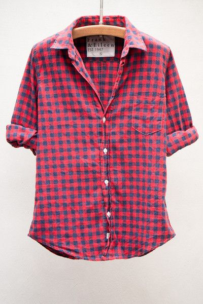 Barry Red & Blue Flannel