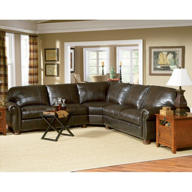 charles schneider victoria brown leather sectional sofa family rh pinterest com