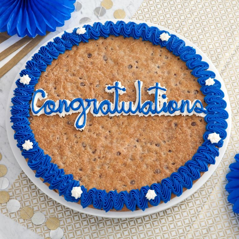 Congratulations big cookie cake chocolate chip cookie