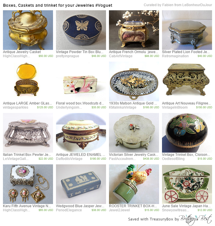 Boxes, Caskets and trinket for your Jewelries #Voguet by Fabien http://etsy.me/1G2kb1T  via @Etsy