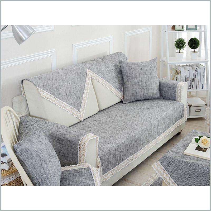 cotton linen sofa cover modern solid sofa covers modern gray capa de rh pinterest com