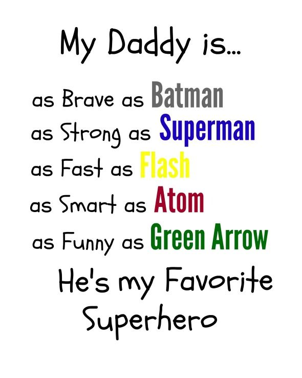 superhero dad gift free printables father s day dad poems rh pinterest com