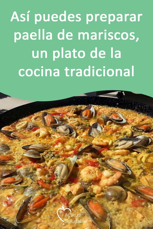 Paella De Mariscos Un Plato De La Cocina Tradicional Paella De Mariscos Receta De Paella De Mariscos Paellas Receta