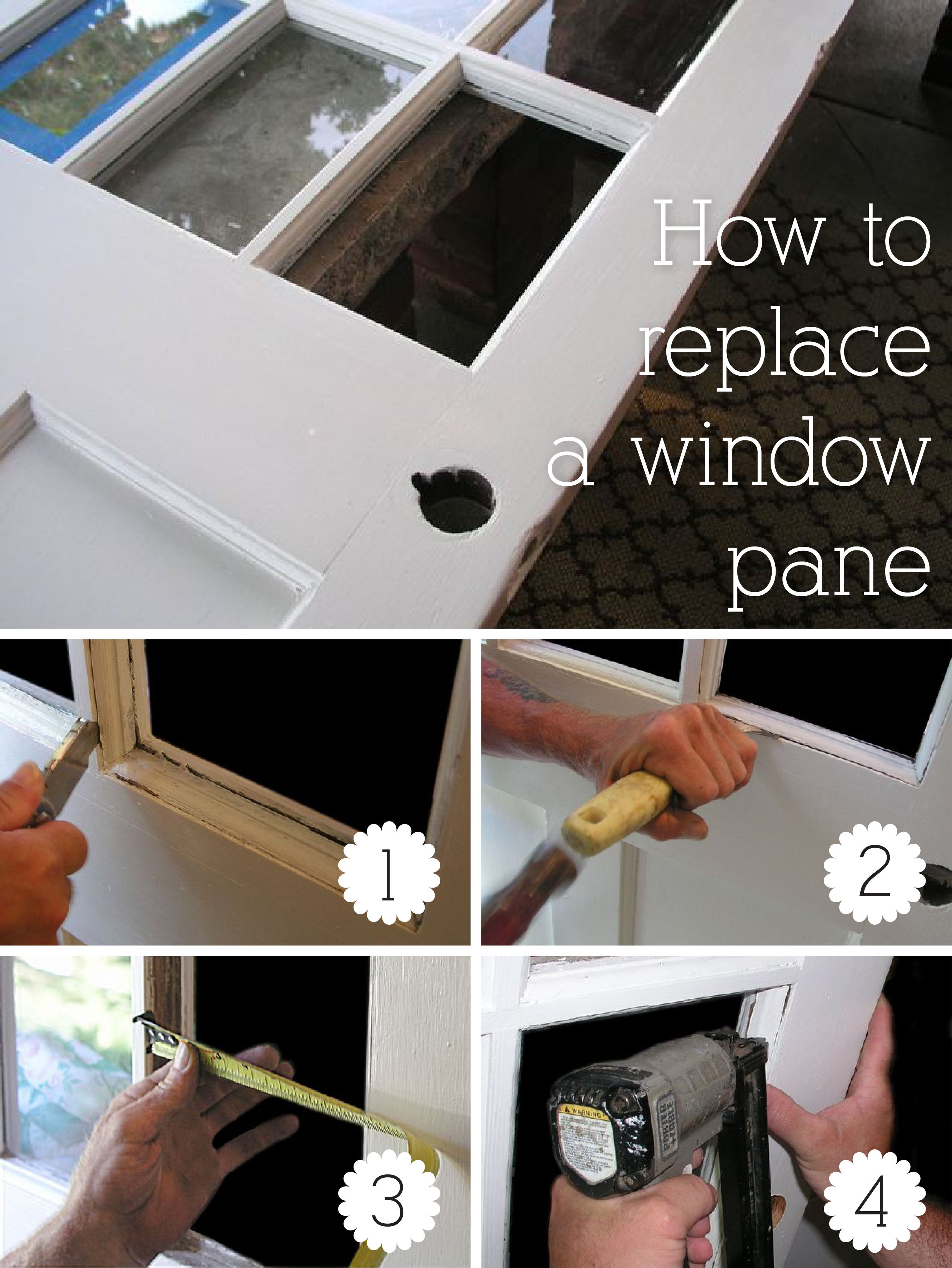 How To Replace A Pane Of Glass In A Door For A Home Sweet Home
