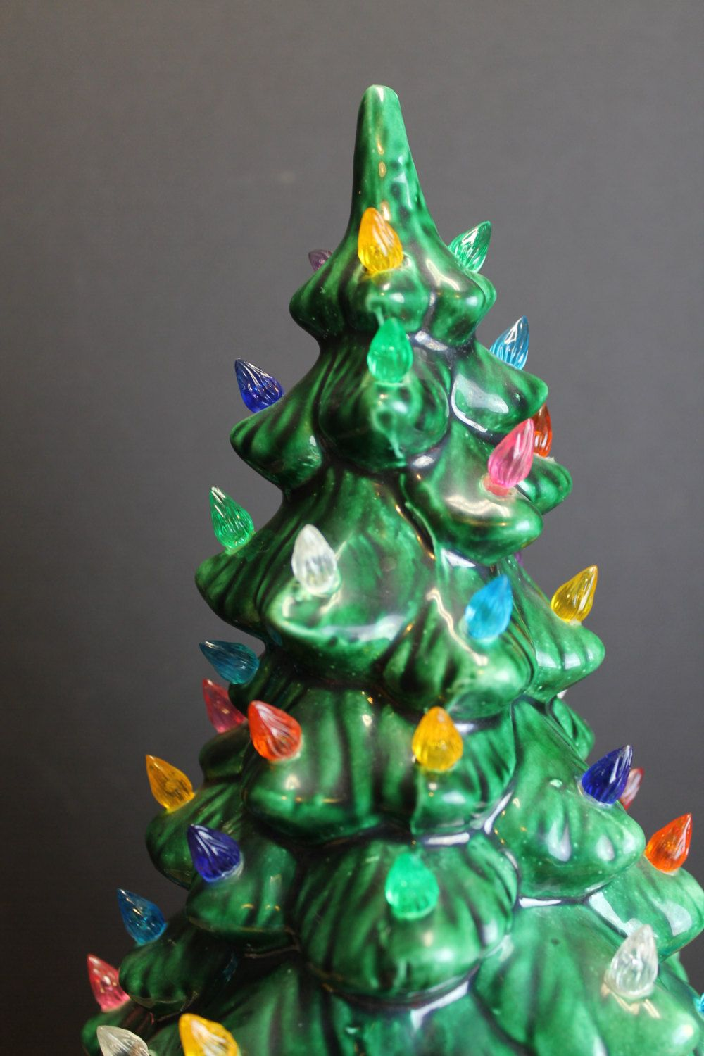 1960s Lighted Ceramic Christmas Tree // Multi Colored Lights // 13 ...