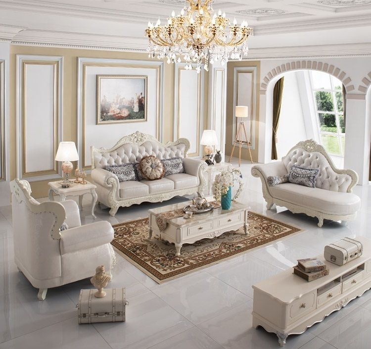 Italian Sofa Leather Suite 3 Pieces Set