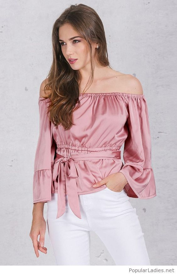 43ab5dff032 White pants and pink shirt in 2019 | PopularLadies.net | Shirt ...