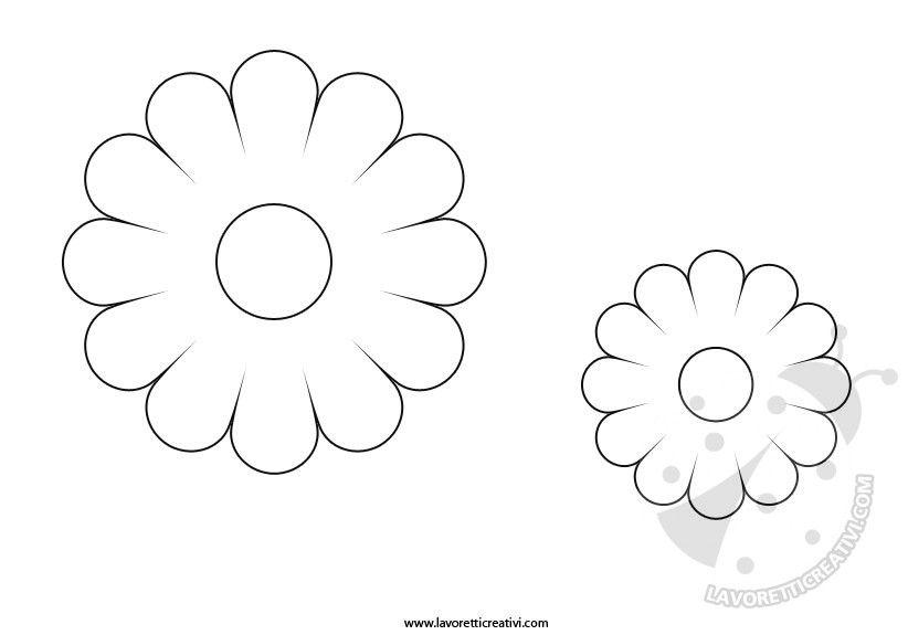 Sagoma Fiori 12 Petali Disegni Da Colorare Pinterest Flower