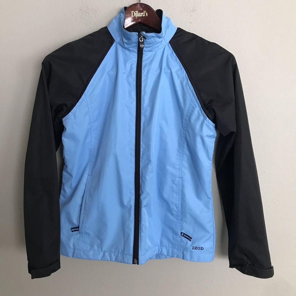 Izod Performx Navy Blue Black Trim Full Zip Jacket Zip Off Sleeves Women S S Ebay Jackets Sleeves Women Zip Jackets [ 1000 x 1000 Pixel ]