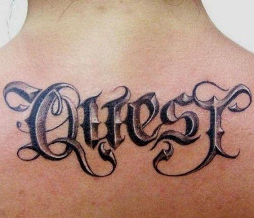 Old,english,tattoo,script,fonts