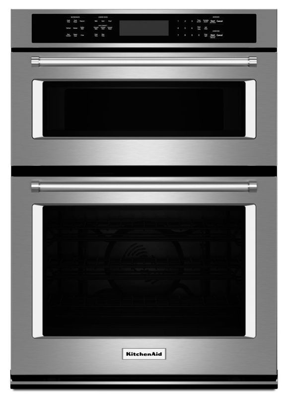 kitchenaid koce507e 27 inch wide 4 3 cu ft combination wall oven rh pinterest com