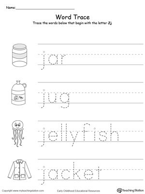 Practice Beginning Letter Sound Worksheet In Color Beginning Sounds Worksheets Phonics Worksheets Letter J
