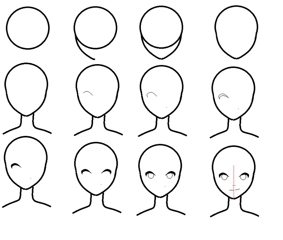 How To Draw An Anime Face By Pixielog On Deviantart Drawing People Easy Cartoon Drawings Anime Head