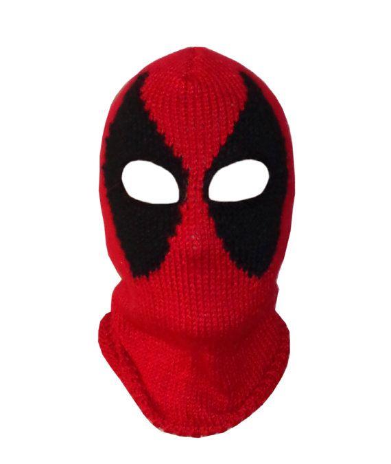 Deadpool Mask, Marvel Beanie Mask-Red Hood Mask- Superhero Mask ...
