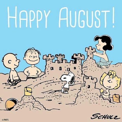 Que Agosto traga só felicidade e positividade pra todos nós!!  #goodmorning #monday #happyaugust #snoopy #charliebrown #sally #linus #lucy #peanuts