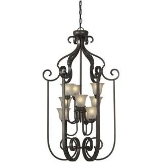 "Check out the Forte Lighting 2446-09-32 21""W 9 Light Foyer Pendant in Antique Bronze"