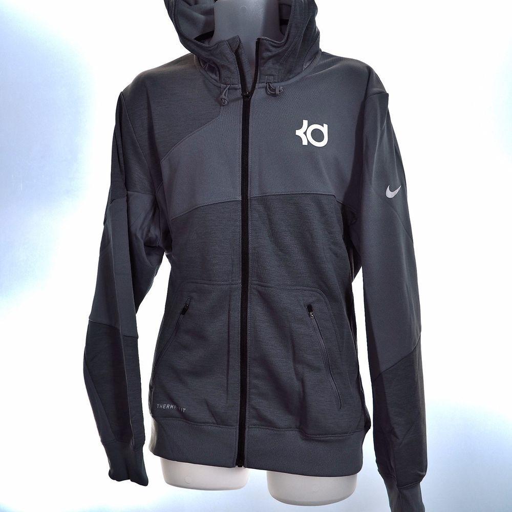 Kd Nike Therma Fit Men S Xl Hoodie Full Zip Sweatshirt Gray Fleece 618297 Durant Full Zip Sweatshirt Mens Athletic Wear Full Zip Hoodie [ 1000 x 1000 Pixel ]