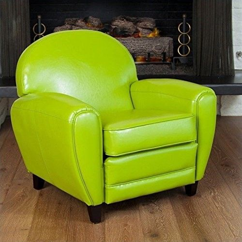 Noble House Marlin Club Chair In Lime Green Leather Club