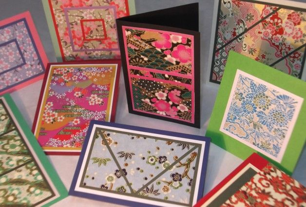 Card Making Using Japanese Paper Japan Crafts Cards Handmade