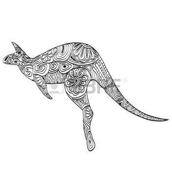 zentangle: Canguro tallado Vectores | Animals coloring | Pinterest ...