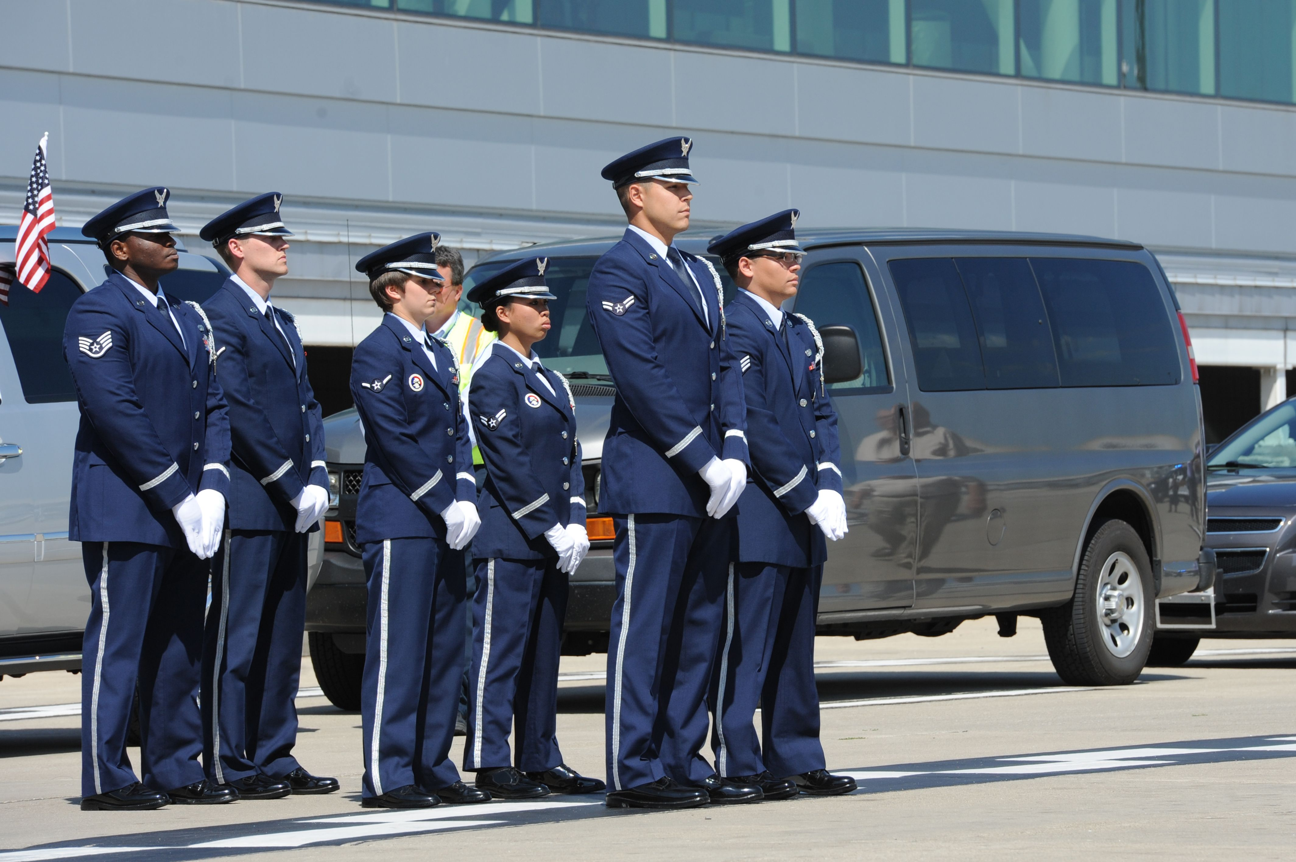 Members of the Scott Air Force Base, Illinois, Honor Guard