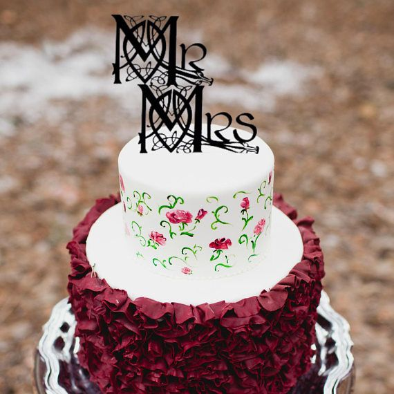 Mr and Mrs Celtic Knot Wedding Cake Topper, Game of ...