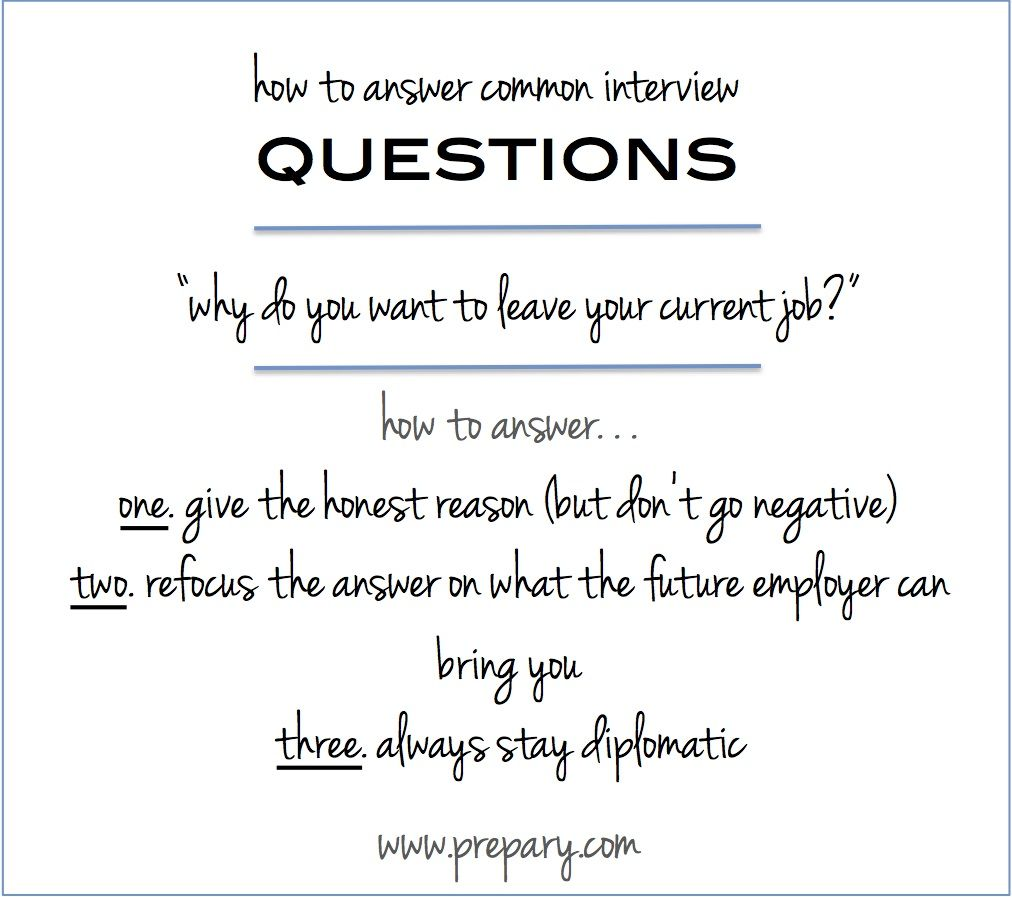 interview tip learn to answer why do you want to leave your current