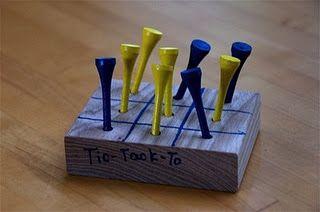 Homemade Tick-Tack-Toe Game