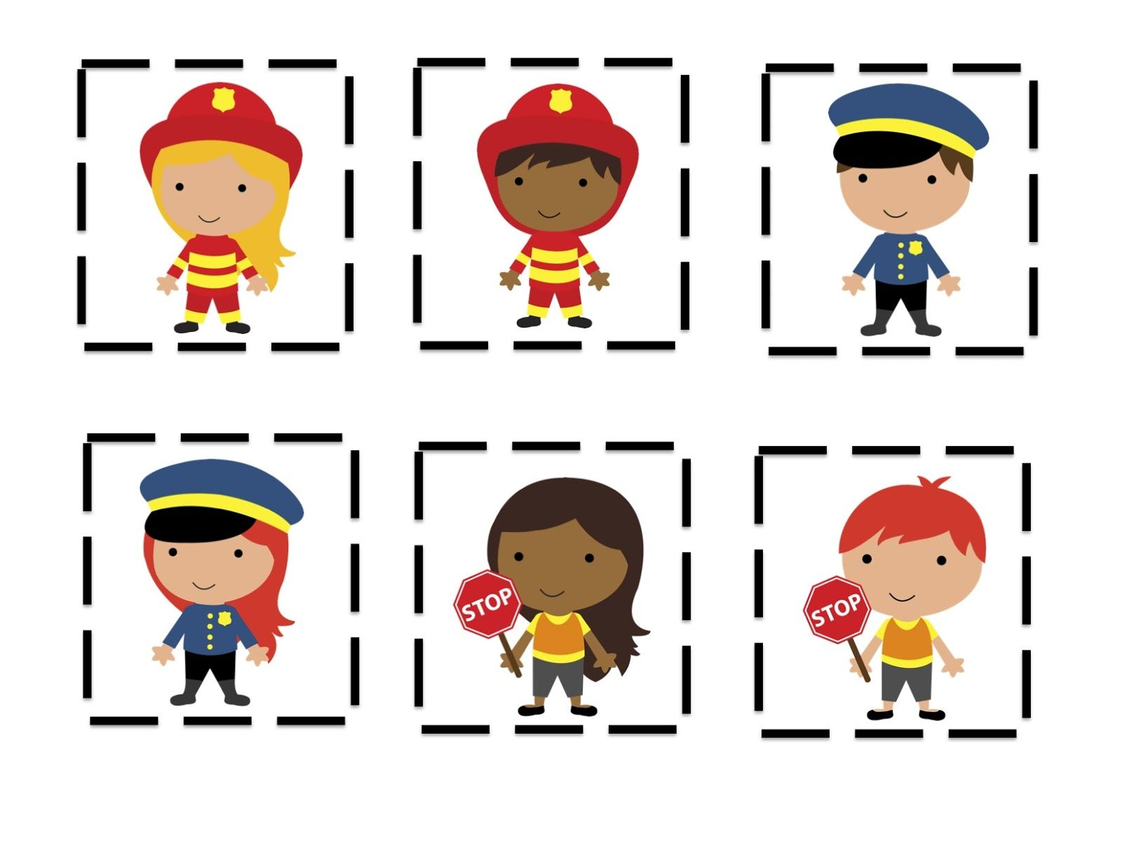 Community Helpers Hats To Color Community Helpers