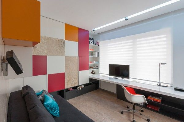 Nice a colorful modern space for a stylish couple