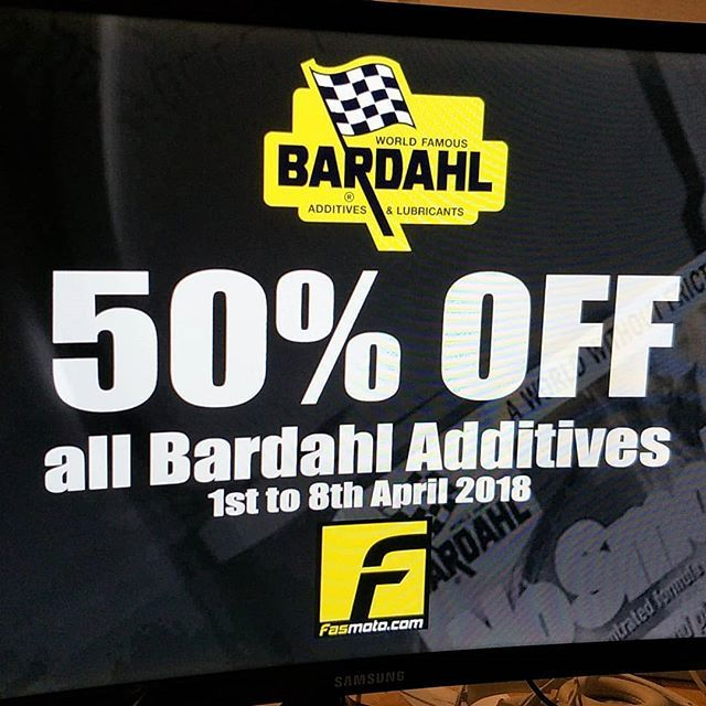 Bardahal Additives super promo this April. Don't miss your chance to enjoy 50% discount on all Bardahl additives. #bardahl #bardahlmalaysia #additives