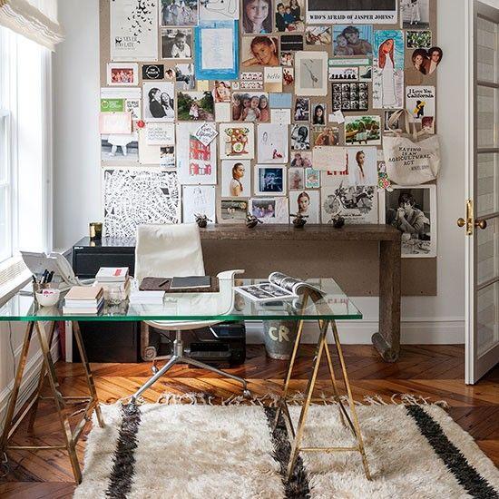 Wohnideen Arbeitszimmer Home Office Büro - Weiß Büro zu Hause mit ...