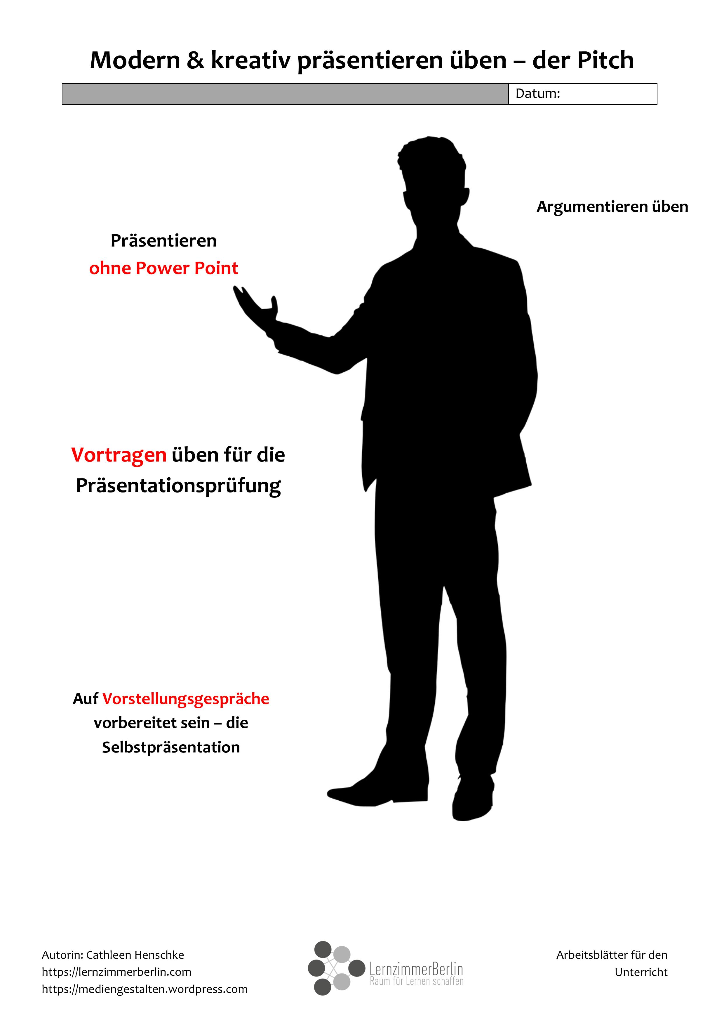 Prasentieren Uben Kurz Knackig Unterrichtsmaterial In Den Fachern Arbeitslehre Deutsch Wirtschaft Lernen Berufsorientierung Unterrichtsmaterial