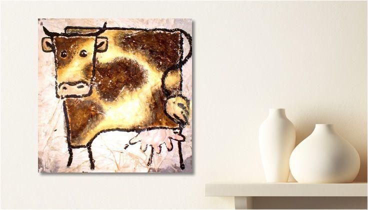 Tableau Peinture dessin Ho la vache ! une toile de Delphine B