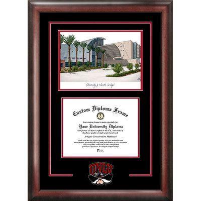 Campus Images NCAA Nevada Las Vegas Unversity Running Rebel Spirit Graduate Diploma Picture Frame