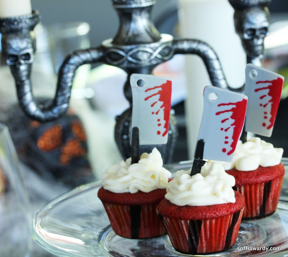 red velvet cupcakes halloween greatdessert