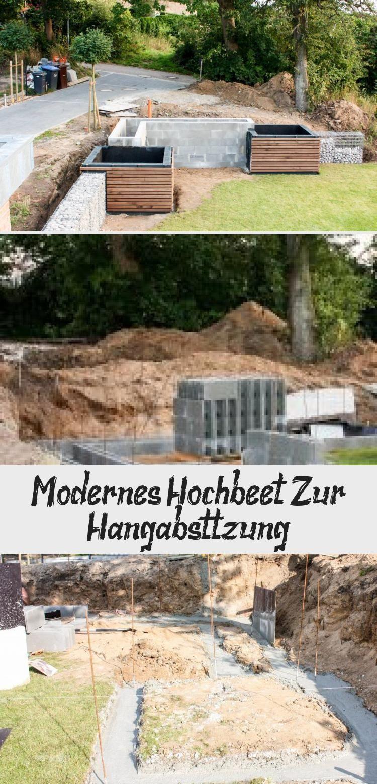 Modernes Hochbeet Fur Hanglage Garten In 2020 Hochbeet Garten Am Hang Garten
