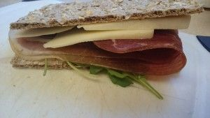 Low Carb Sandwich With Wasa Fibre Rye Cracker Low Carb