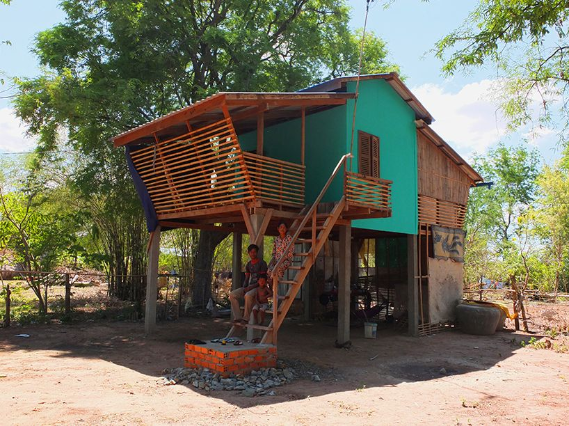 these affordable bamboo houses were built for just 2 500 each rh pinterest com