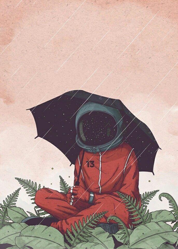 space dood in rain