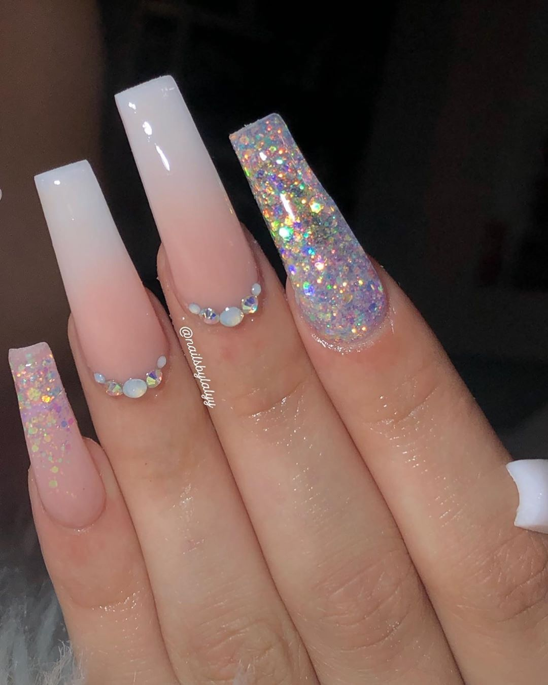Ombre Glitter Don T Forget To Use Discount Code Lalyy15 For Off Sparkle And Co Long Acrylic Nails Coffin Acrylic Nails Coffin Glitter Long Acrylic Nails