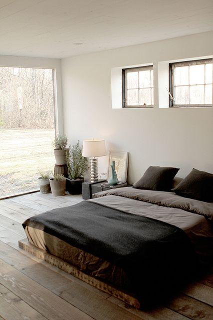 Ceiling to floor bedroom windows.