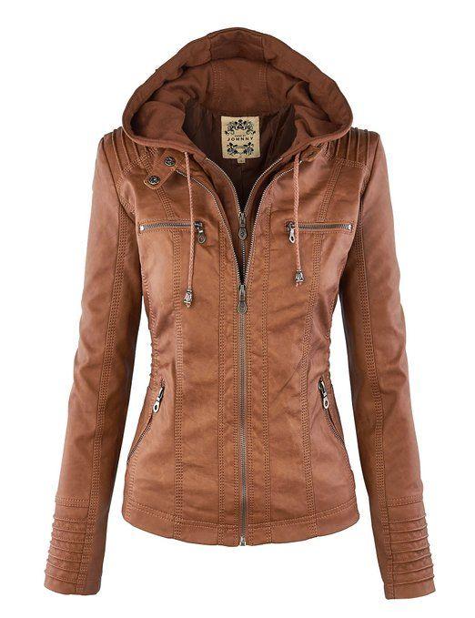 3d45d05f7c MBJ Womens Removable Hoodie Motorcycle Jacket S BLACK at Amazon Women s  Coats Shop