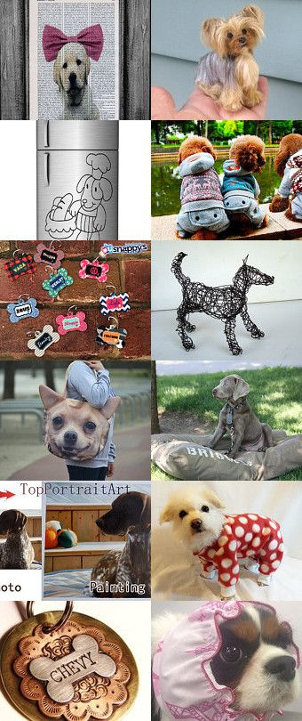 Love dogs einavcraft by Einav Braun on Etsy--Pinned with TreasuryPin.com