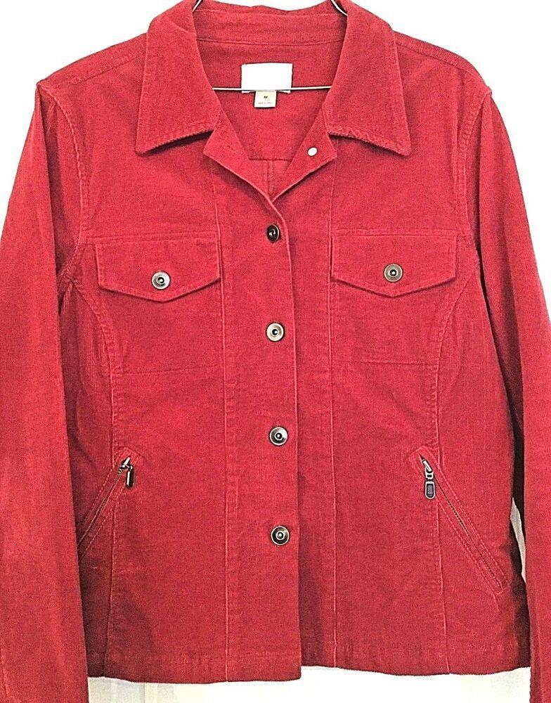 8d9f6b70998 Christopher   Banks Women s Stretch Corduroy Shirt   Jacket. Medium in Red   fashion  clothing  shoes  accessories  womensclothing  coatsjacketsvests  (ebay ...