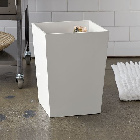 Lacquer bath wastebin at west elm 2t for the office home office pinterest bath - West elm bathroom storage ...