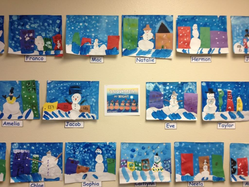 Creative Art Project For Snowmen At Night Book