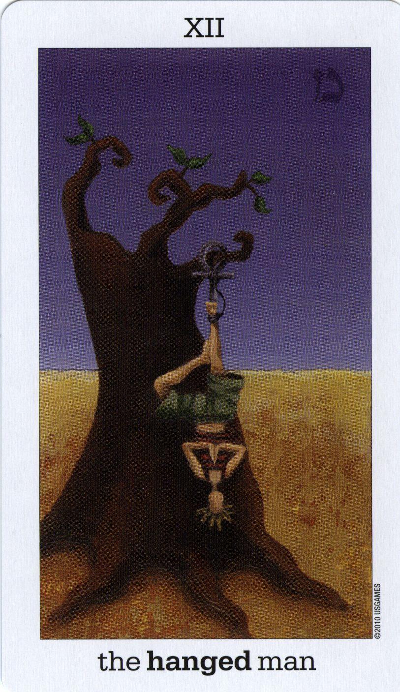 The Hanged Man from the Sun and Moon Tarot | Hanged Men | Sun, moon